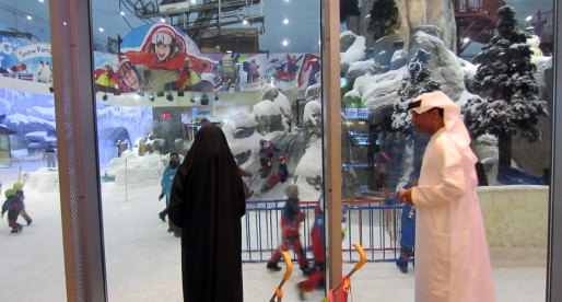 Indoor mall skiing – Mall of the Emirates