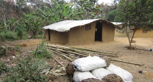 workers home on the rubber plantation